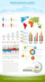 современный характер инфографики элементы — Cтоковый вектор