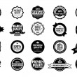 Collection of old styled vintage stickers - Image vectorielle
