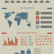 Useful, high detailed and vintage styled infographic elements - Stock Vector