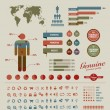 High quality vintage styled infographics elements — Stock Vector #9156043