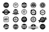Collection of old styled vintage stickers — Stock Vector