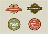 Vintage retro styled label with premium quality and highest qual — Stock Vector