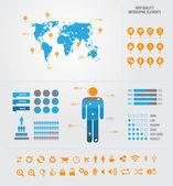 Alta calidad negocio infografía elemnts — Vector de stock
