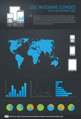 Cool infographic elements for the web and print usage — Stock Vector
