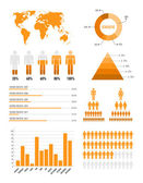Orange infographik elemente — Stockvektor