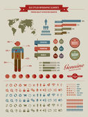 High quality vintage styled infographics elements — Vettoriale Stock