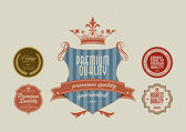 Vintage styled label stickers — Stock Vector