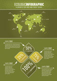Green ecologic infographic — Stock Vector