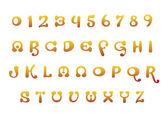Orange font set — Stock Vector