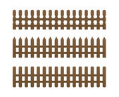 3 brown fence — Stock Vector