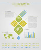 Ecologic infographic elements for web and print usage — Stock Vector