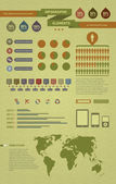 Cool infographic elements for the web and print usage — Vetor de Stock