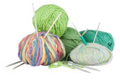 Knitting kit — Stock Photo
