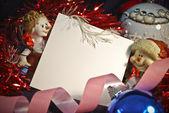 列表中圣诞装饰 — 图库照片