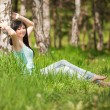 Stock Photo: Cute woman in the park