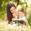 Stock Photo: Mother with daughter in the park