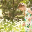 Cute little girl in the park — Stock Photo #10724009