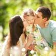 Happy mother, father and daughter in the park — Stock Photo #10724015