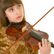 Girl with violin - Stock Photo