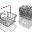 3d baskets isolated in white background — Stock Photo #9256544