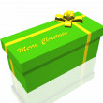 Gift box isolated on the white background — Stock Photo #9256585