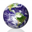 Stock Photo: Earth isolated in white background