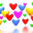 Color hearts background — Stock Photo #9257001