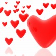 Stockfoto: Hearts background