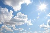 Sunny sky background — Stock Photo