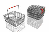 3d baskets isolated in white background — Stock Photo