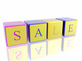 "Word ""sale"" built from cubes — Stock Photo"