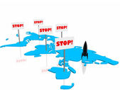 Stop on the war — Stock Photo