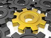 Gear бизнес работа, золотой пинон — Стоковое фото