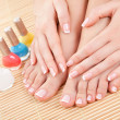 Stock Photo: Care for sensuality womnails