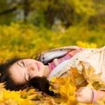 Autumn fashion pretty woman — Stock Photo #9427635