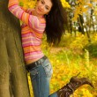 Stock Photo: Autumn fashion pretty woman