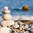 Stock Photo: Balanced stones on sea