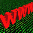 3d World Wide Web internet symbol — Stock Photo