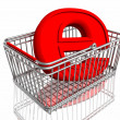 Royalty-Free Stock Photo: E-commerce sign in basket