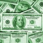 Green money background — Stock Photo
