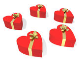 Caixa de presente na série de forma de coração — Fotografia Stock