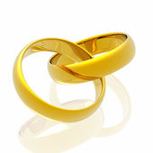 Rings in white background — Stock Photo