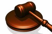 Trä ordförandeklubba från domstolen — Stockfoto