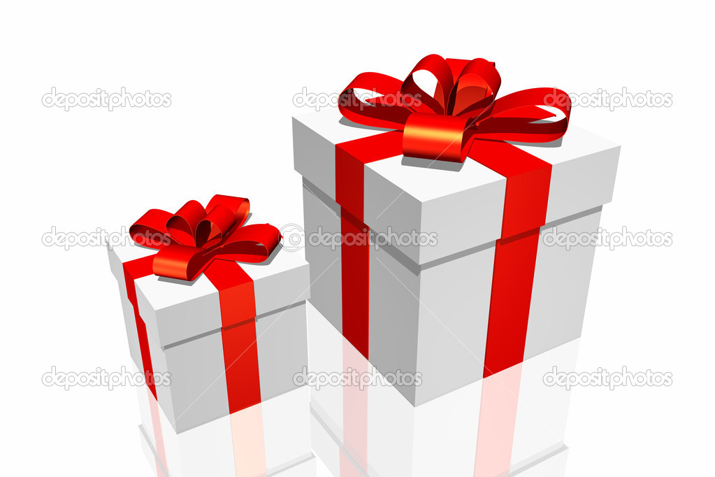 Gift box isolated on the white background — Stock Photo #9429571