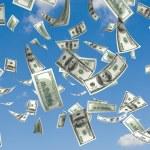 Money rain — Stock Photo