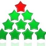 Christmas tree from stars — Stock Photo