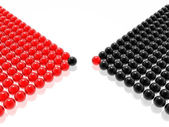 Red & black leader of management — Stock Photo