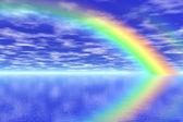 Rainbow in the sea — Stock Photo