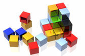 Colourful cubes — Stock Photo
