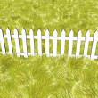 Fence on a solar summers day — Stock Photo